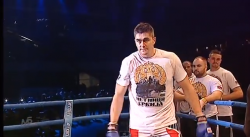 Darko Milicic made his kick boxing debut in a t-shirt supporting the Serbian Chetniks.